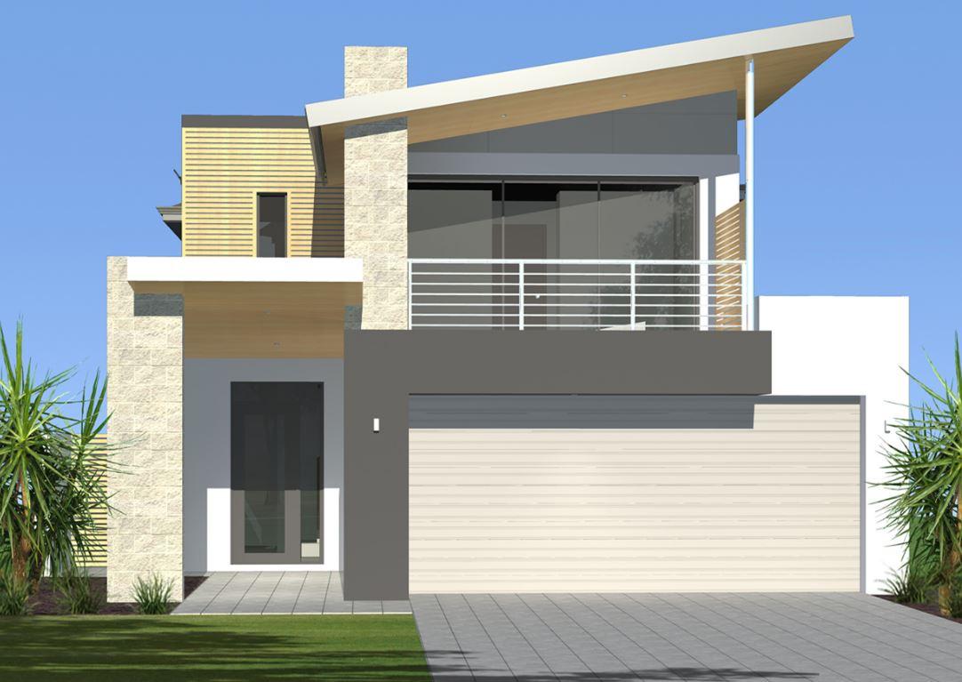 Dise os de fachadas con portones grandes for Fachada de casas modernas con porton