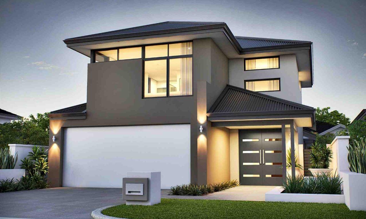 Dise os de fachadas con portones grandes for Disenos para frentes de casas