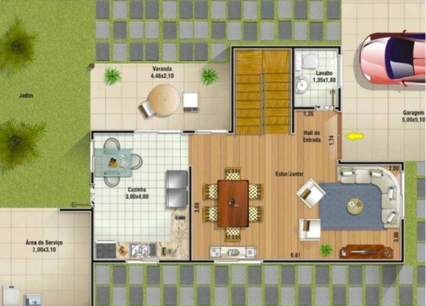 planos-de-casas-de-dos-plantas-paraguay