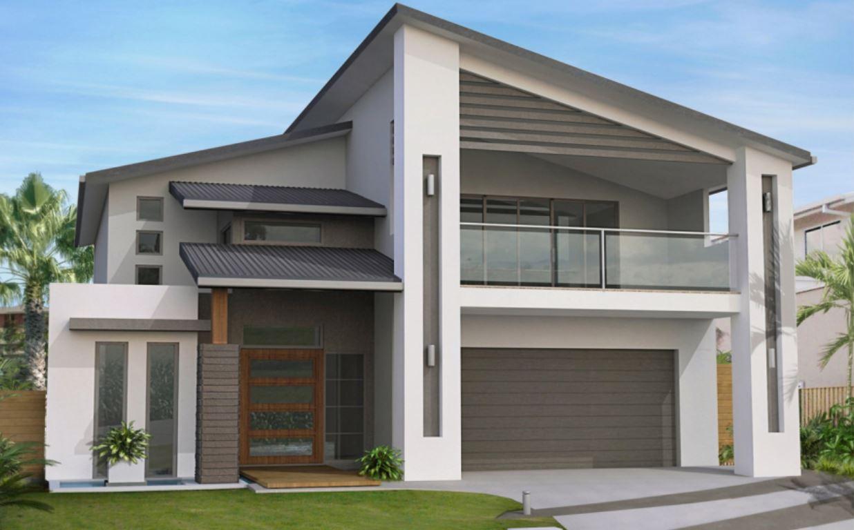 fachadas-de-dos-pisos-modernas-con-techos-inclinados