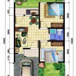 Planos de casas de 2 dormitorios de 48 metros cuadrados