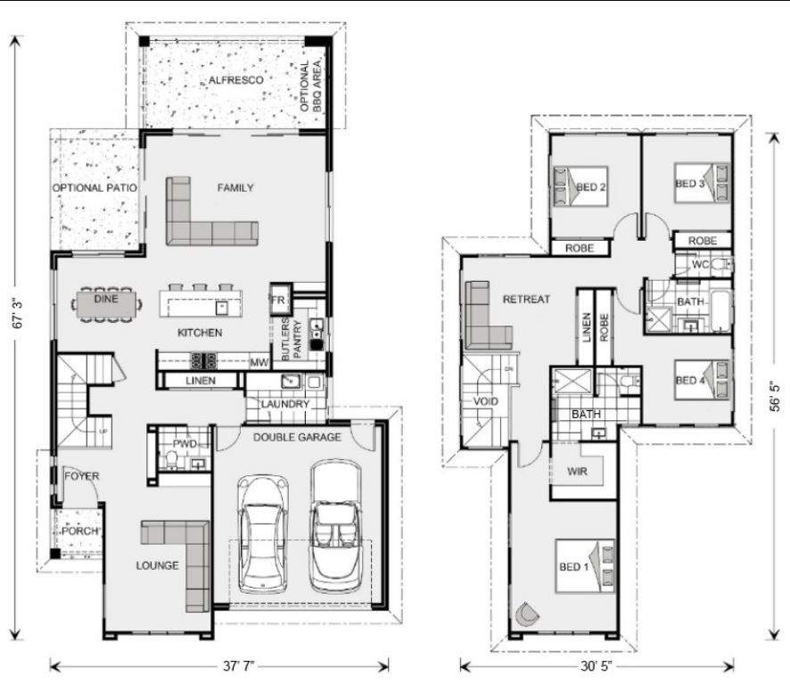 Planos de casas gratis for Casa con lavadero