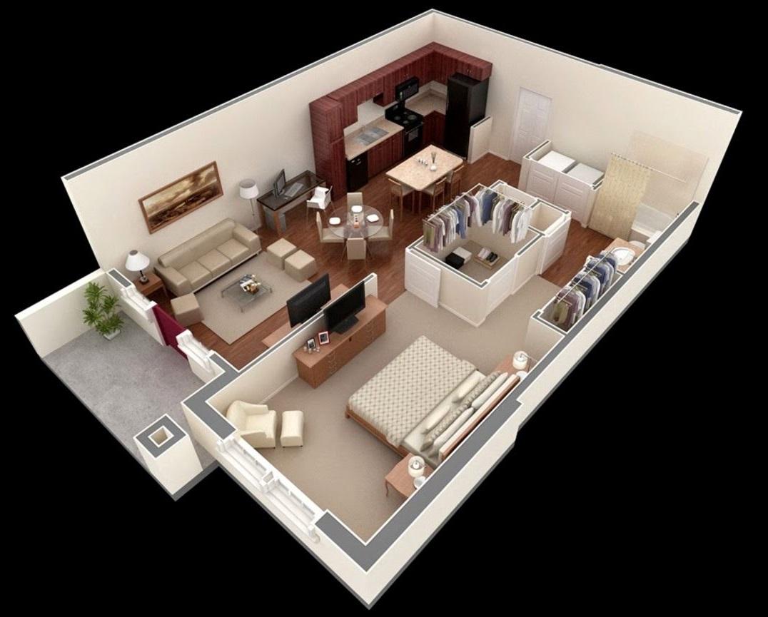 planos-de-casas-modernas-1-dormitorio