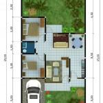 Cuantos metros cuadrados tiene una casa de 2 dormitorios