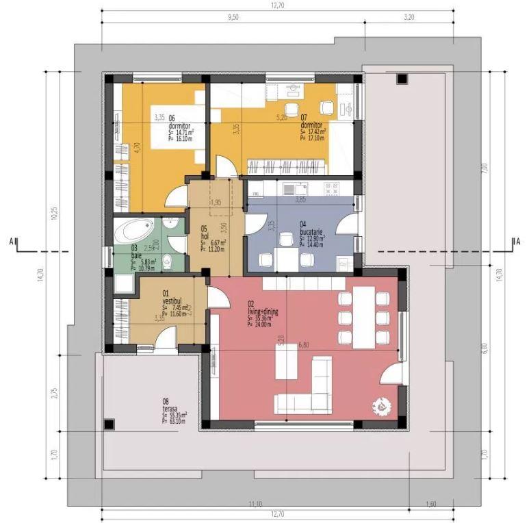 planos-de-viviendas-economicas-con-2-dormitorios-con-medidas-en-metros-cuadrados
