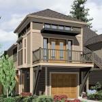 Planos de una casa completa larga y angosta con garaje