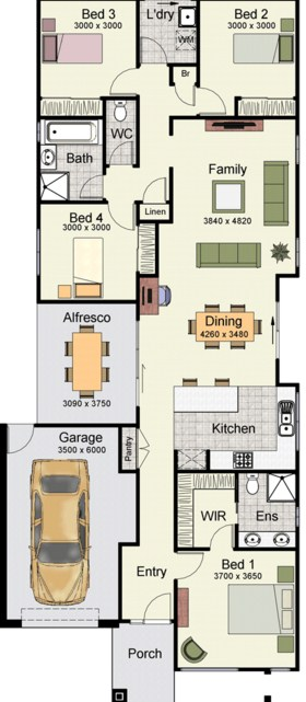 planos-de-casas-con-garaje-adelante