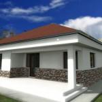 Planos de viviendas economicas con 2 dormitorios con medidas en metros cuadrados