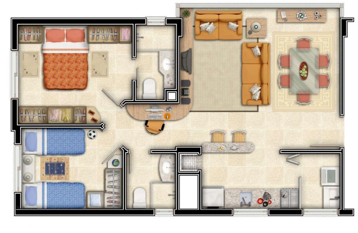 planos-de-departamentos-pequenos-rectangulares