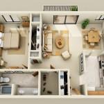 Planos de departamentos de 60 m2