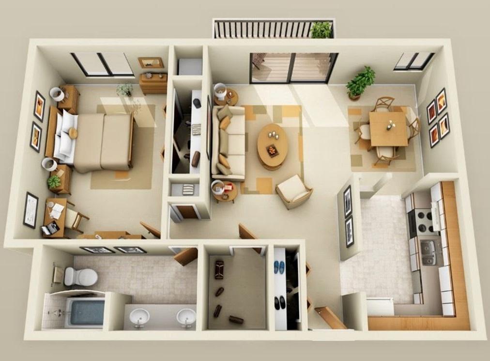Planos de departamentos de 60 m2 for Diseno de apartamentos de 90 metros cuadrados