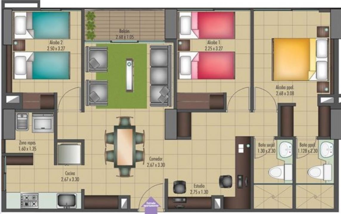 Planos de casas gratis for Modelos de departamentos pequenos