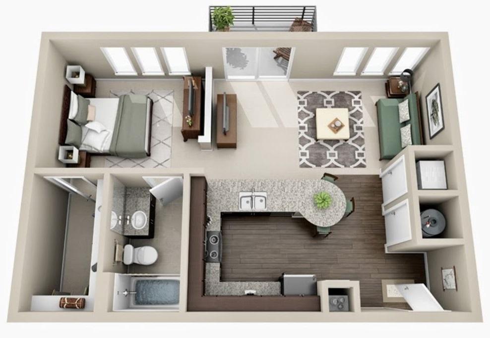 planos-de-apartamentos-de-50-metros-cuadrados