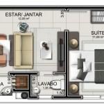 Planos de departamentos pequeños rectangulares