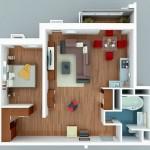Planos de apartamentos 50 metros cuadrados – 5 Magníficos diseños