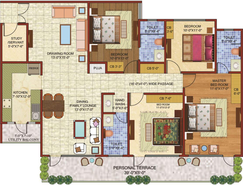 planos-de-departamentos-de-90-metros-cuadrados