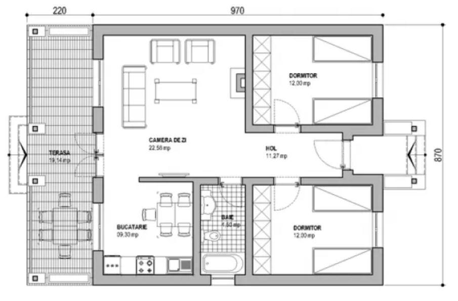 planos-de-casas-de-dos-piezas