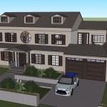 Plano de casa de 350 metros cuadrados