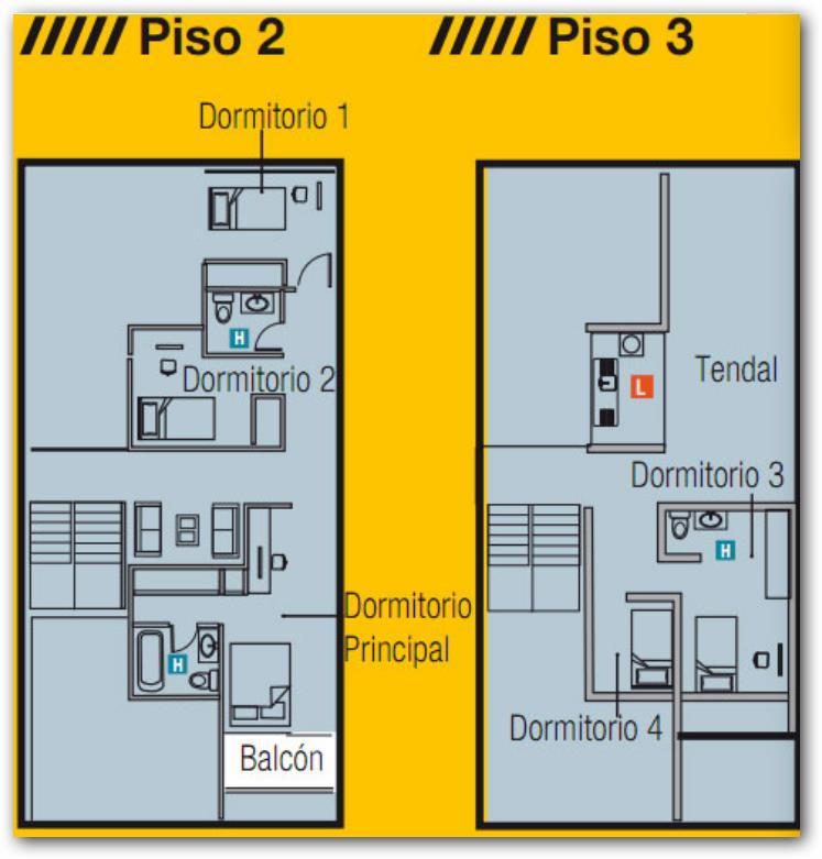Plano casa de 3 plantas