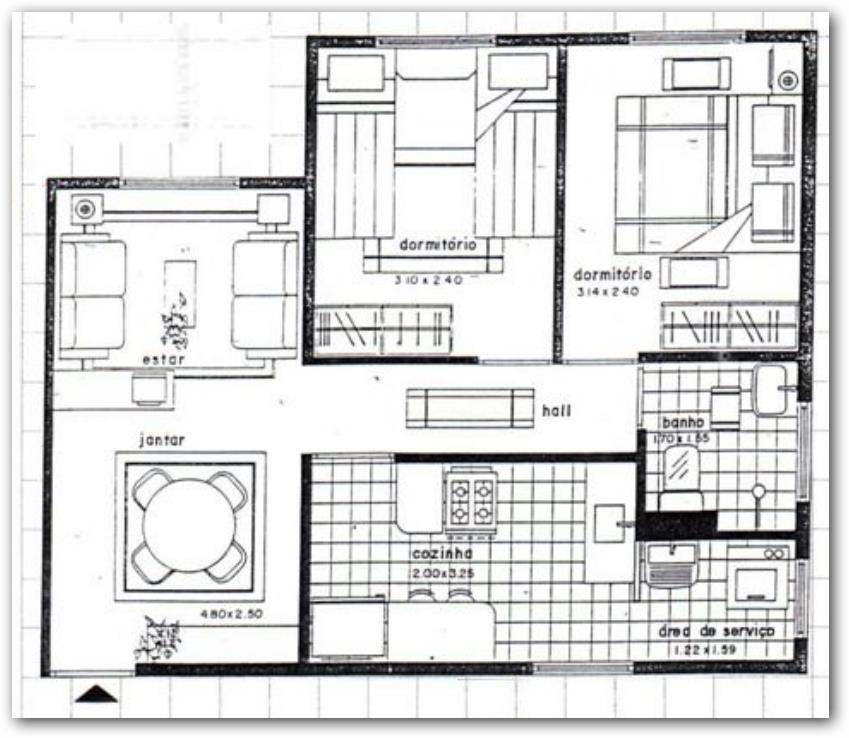 Vivienda unifamiliar de 2 habitaciones