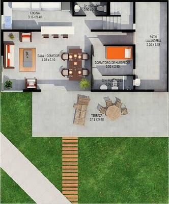 casa con habitacion de visitas planta baja