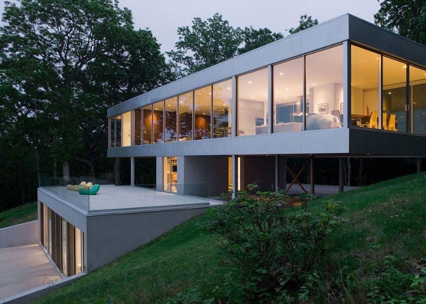 yamaçlardaki evlerin mimari planları