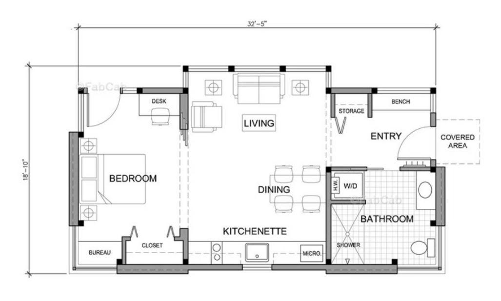 tek odalı küçük evler modelleri