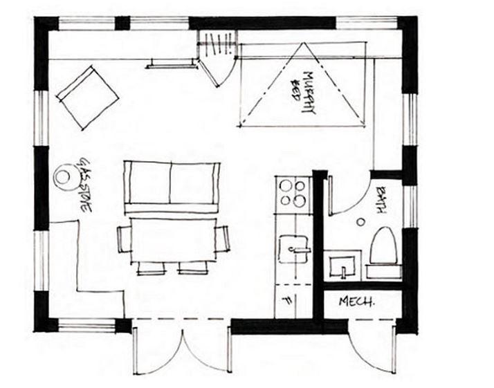 tek odalı küçük evlerin modelleri