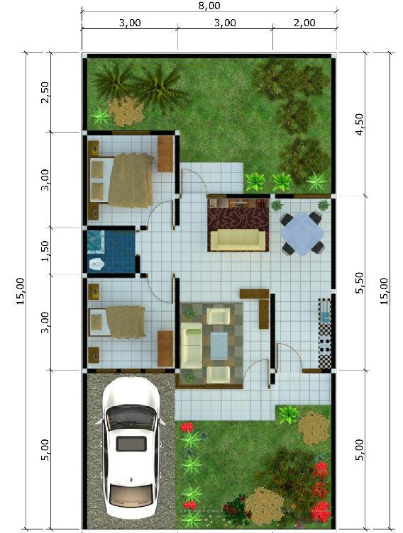 2 yatak odalı evin kaç metrekaresi var