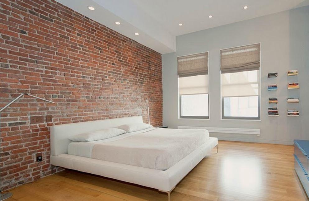 tuğla-çift yatak odası-dekorasyon