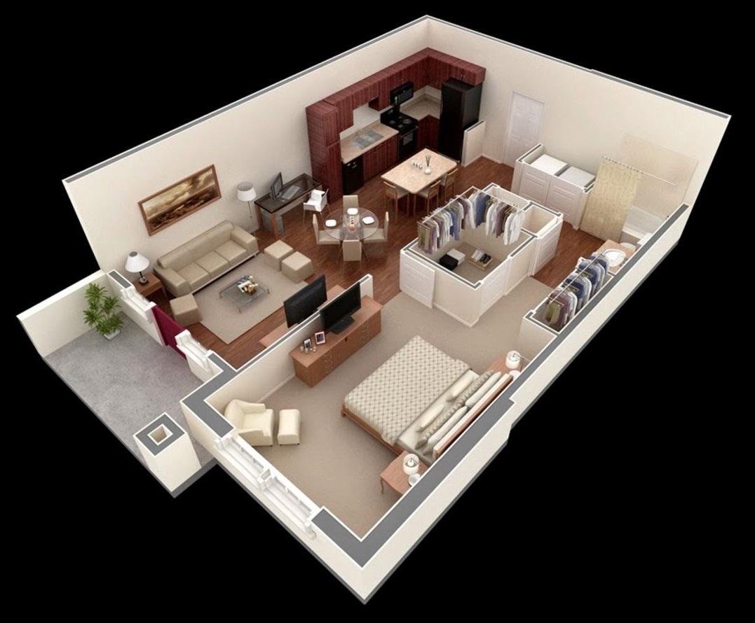 ev planları-60 m2