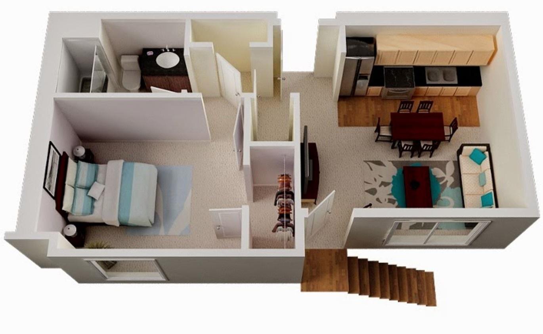 60 metrekarelik daire planları