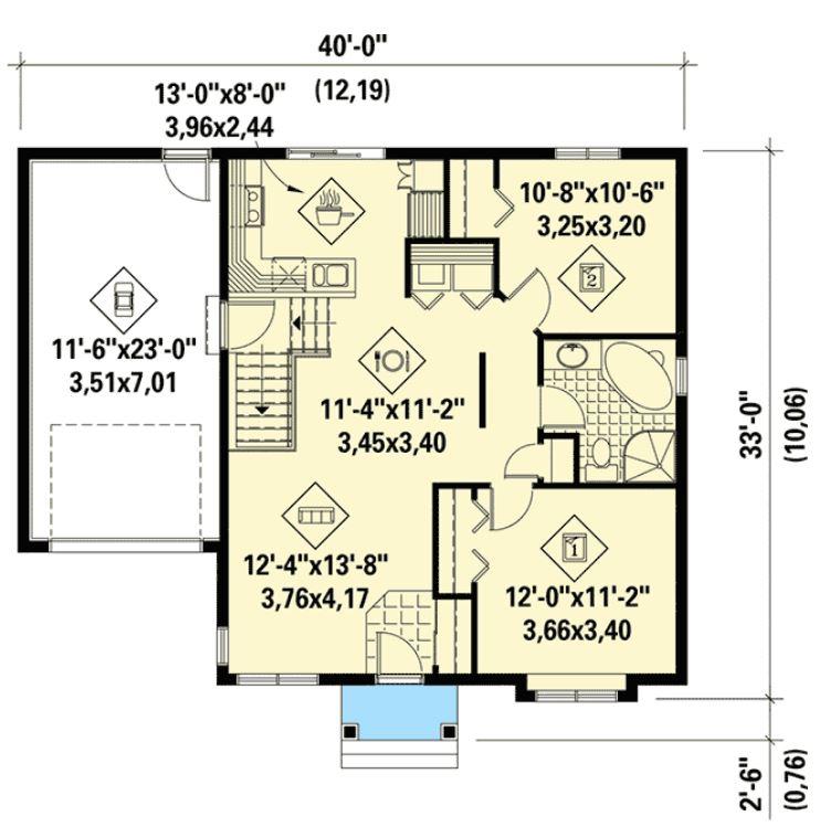 10x12 tek katlı ev planı