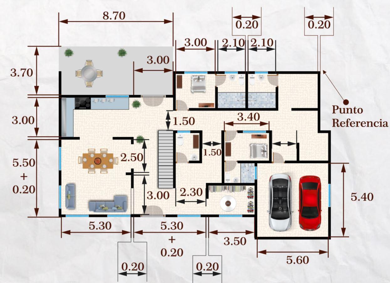 350 m2 ev planı