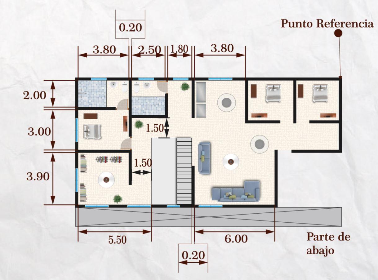 350 metrekarelik ev planı